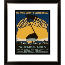 Du Page County Centennial Music Festival Framed Limited Edition Giclee Art