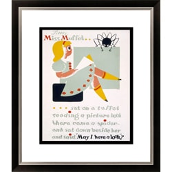Little Miss Muffet Framed Limited Edition Giclee Art