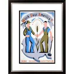 'Work Pays America!' Framed Limited Edition Giclee