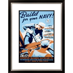 'Build for your Navy! Enlist!' Framed Limited Edition Giclee