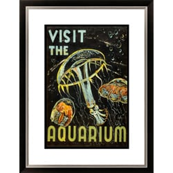 'Visit the Aquarium' Framed Limited Edition Giclee