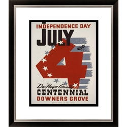 'July 4--Independence Day' Framed Limited Edition Giclee
