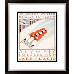 Gallery Direct 'Up Where Winter Calls to Play' Framed Limited Edition Giclee 9222572