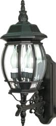 Central Park 3-light Textured Black/ Clear Wall Lantern