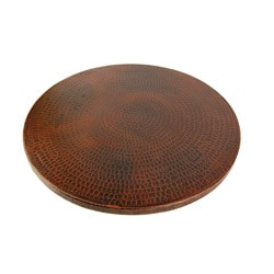 Hand-hammered Copper 20-inch Lazy Susan
