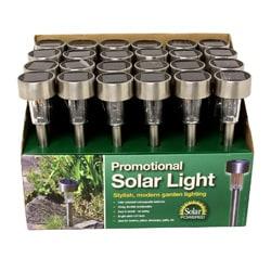 Outdoor Garden Stainless Steel Solar Lights (Set of 24) 9226928