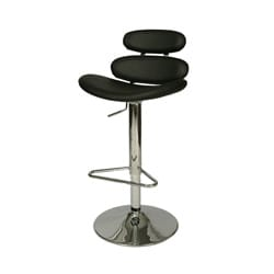Avebury Black Hydraulic Bar Stool