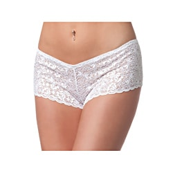 Coquette White Lace Short Panties