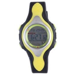 Diadora Men's Dual Time Grey Dial Rubber Alarm Watch 9234480