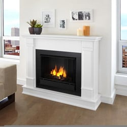 Real Flame White Silverton Fireplace
