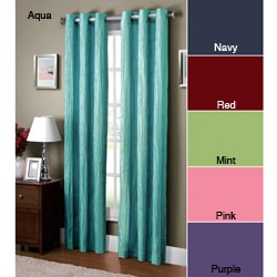VCNY Jericho Crushed Grommet Top 84-inch Curtain Panel 9235044