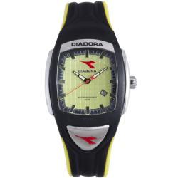 Diadora Mens Green Dial Rubber Band Watch 9236661