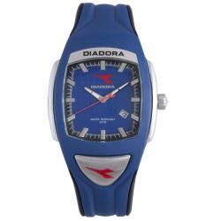 Diadora Men's Blue/ Black Rubber Date Watch 9236663