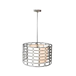 Decorative Off-White Modern Contemporary Vasha Hanging Lamp