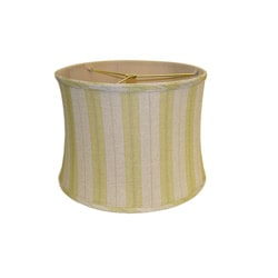 Green Striped Linen Lamp Shade