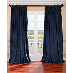 EFF Midnight Blue Velvet Blackout Extra Wide Curtain Panel (As Is Item)