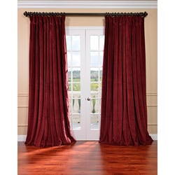 Exclusive Fabrics Burgundy Velvet Blackout Extra Wide Curtain Panel (As Is Item)