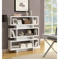 White 55-inch High Modern Bookcase