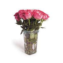 Recycled Glass Square Flower Vase