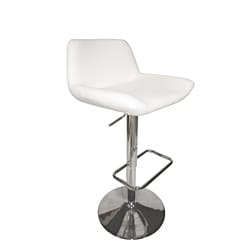 Los Cabos Ivory Hydraulic Bar Stool