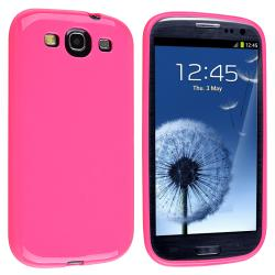 INSTEN Hot Pink Jelly TPU Rubber Skin Phone Case Cover for Samsung Galaxy S III i9300