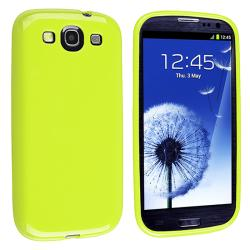 INSTEN Light Green Jelly TPU Rubber Skin Phone Case Cover for Samsung Galaxy S III i9300