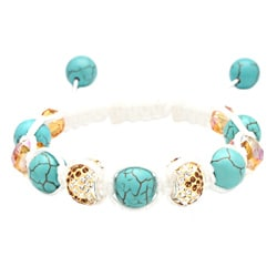Karma Collection: Turquoise Heaven Crystal Edition Macrame Bracelet