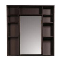 Red Mahogany Medicine Cabinet/ Double Sided Mirror