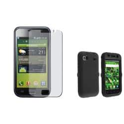 INSTEN Black Hybrid Phone Case Cover/ Screen Protector for Samsung Galaxy S GT-i9000