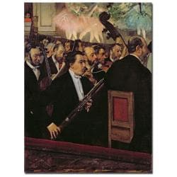Edgar Degas 'The Opera Orchestra 1870' Canvas Art