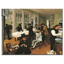 Degas 'The Cotton Exchange New Orleans 1873' Canvas
