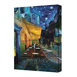 Vincent Van Gogh 'The Caf Terrace on the Place du Fourm, Arles' Gallery Wrapped Canvas (18 x 26)