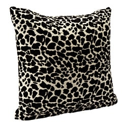 Black Animal Print Accent Pillow