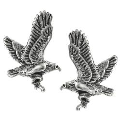 Journee Collection Sterling Silver Eagle Stud Earrings