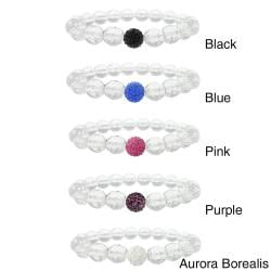 Icz Stonez Crystal And Fireball Stretch Bracelet