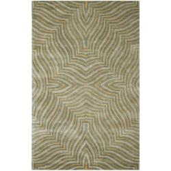 Safavieh Handmade Maz Grey New Zealand Wool Rug (5'x 8')