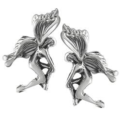 Journee Collection Sterling Silver Fairy Stud Earrings