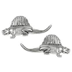 Journee Collection Sterling Silver Dimetrodon Dinosaur Stud Earrings