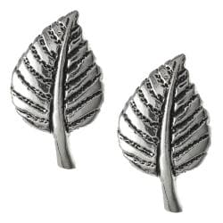Journee Collection Sterling Silver Leaf Stud Earrings
