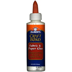 Elmer's Craft Bond Fabric and Paper 4-ounce Glue (Pack of 6)
