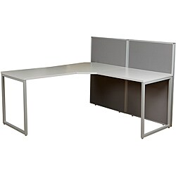 The Box Office L-Shaped Workstation Addition with 2 Panels