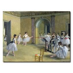 Edgar Degas'The Dance Foyer 1872' Ballerina Canvas Art