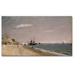 John Constable 'Brighton Beach with Colliers, 1824' Canvas Art