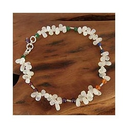 Multi-gemstone 'Festive Jaipur' Anklet (India)
