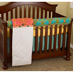 Cotton Tale Designs Gypsy Front Crib Rail Cover Up Set