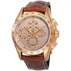 Hamilton Men's 'Lord Hamilton' Pink Gold PVD Chronograph Watch