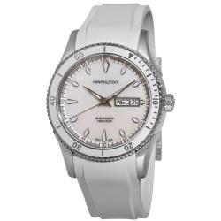 Hamilton Men's 'Seaview Day Date' White Rubber Strap Automatic Watch