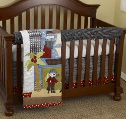 Cotton Tale Pirates 4-piece Crib Bedding Set