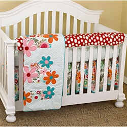 Cotton Tale Lizzie Four-piece 100 Percent Cotton Crib Bedding Set