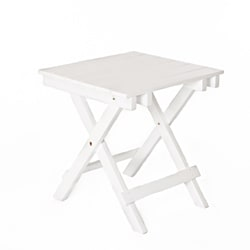 White Foldable Side Table